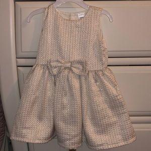 Carters 24 month cream gold dress